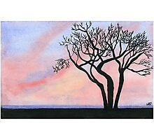 Sunset - Watercolor Painting Photographic Print