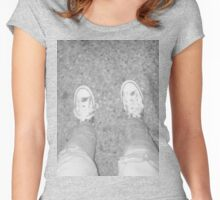 Grey Shoes Photo Women's Fitted Scoop T-Shirt