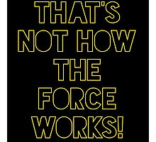 Star Wars Quote Han Solo Photographic Print