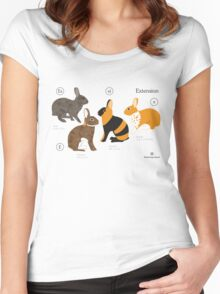 Rabbit colour genetics - Extension gene Women's Fitted Scoop T-Shirt