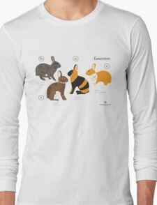 Rabbit colour genetics - Extension gene Long Sleeve T-Shirt