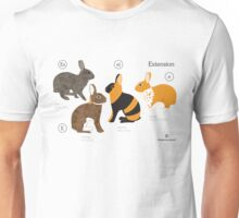 Rabbit colour genetics - Extension gene Unisex T-Shirt