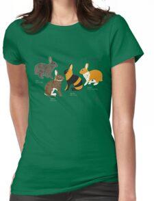 Rabbit colour genetics - Extension gene Womens Fitted T-Shirt