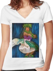 Merrie Monarch Hula Women's Fitted V-Neck T-Shirt