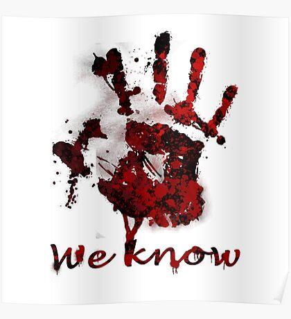 Dark Brotherhood Handprint Poster