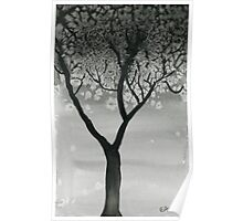 Winter Tree- Watercolor Painting Poster