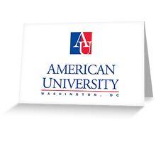 American University formal logo Greeting Card