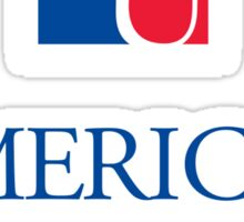 American University formal logo Sticker