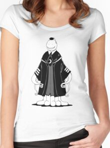 Assasination Classroom : Koro Sensei BW Women's Fitted Scoop T-Shirt