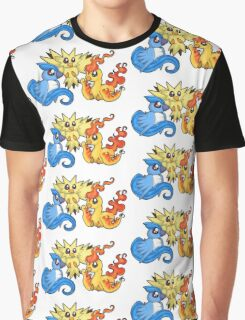 Pokemon Kanto legendary birds Graphic T-Shirt