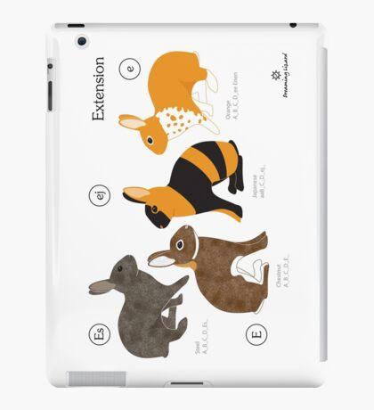 Rabbit colour genetics - Extension gene iPad Case/Skin