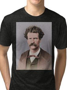 Young Mark Twain 1867 Tri-blend T-Shirt