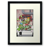 Deadpool & Nintendo Mashup Framed Print