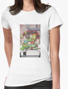 Deadpool & Nintendo Mashup Womens Fitted T-Shirt