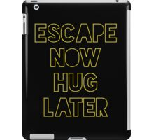 Star Wars: Escape now, hug later iPad Case/Skin