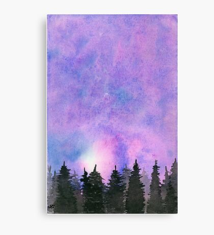 Abstract Forest. Original Watercolor Painting Abstract Art Print Landscape Art Print from Watercolor Painting Original Wall Art Canvas Print