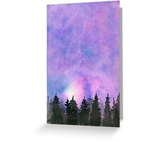 Abstract Forest - Watercolor Painting Greeting Card