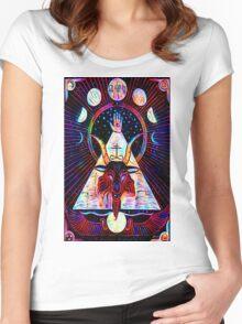 Baphomet Tarot  Women's Fitted Scoop T-Shirt