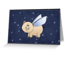 Frosty Piggy Greeting Card