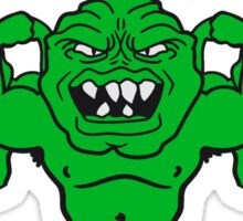 team buddies monster bodybuilder muscles strong men Muckis hulk workout ork oger troll funny green Sticker