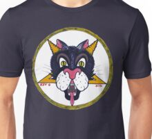 Devil Cat Blue Unisex T-Shirt