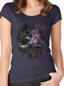 Death Blooms Women's Fitted Scoop T-Shirt