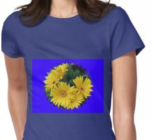 Yellow Daisies Vignette Womens Fitted T-Shirt