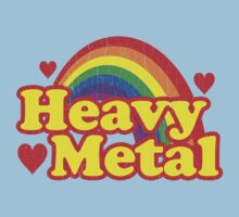 Funny Heavy Metal Rainbow Kids Tee