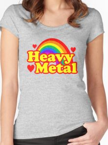 Funny Heavy Metal Rainbow Women's Fitted Scoop T-Shirt