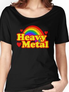 Funny Heavy Metal Rainbow Women's Relaxed Fit T-Shirt