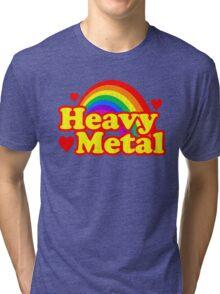 Funny Heavy Metal Rainbow Tri-blend T-Shirt