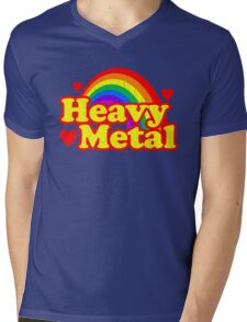 Funny Heavy Metal Rainbow Mens V-Neck T-Shirt