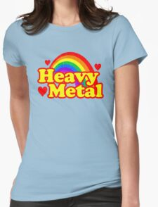 Funny Heavy Metal Rainbow Womens Fitted T-Shirt