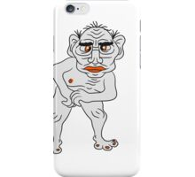 naked ugly disgusting old man grandpa monster troll iPhone Case/Skin
