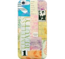 Timeless Beauty - Paper Collage  iPhone Case/Skin