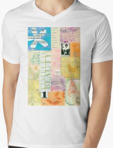 Timeless Beauty - Paper Collage  Mens V-Neck T-Shirt