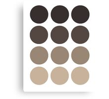 Gray Brown Gradient  Canvas Print