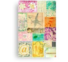 My Secret - Paper Collage Canvas Print