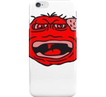 monster wart pimples disgusting decisive cripple evil dangerous horror halloween face head iPhone Case/Skin
