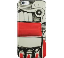 Abstract red and black illustration iPhone Case/Skin