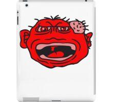 monster wart pimples disgusting decisive cripple evil dangerous horror halloween face head iPad Case/Skin