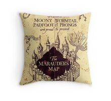The Marauders Map Throw Pillow