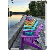 Rainbow chairs iPad Case/Skin