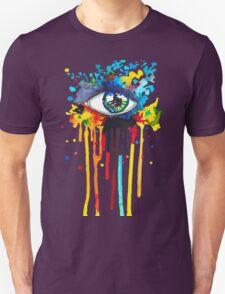 Rainbow Splash Eye Unisex T-Shirt