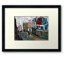 City Square(after Utrillo) Framed Print