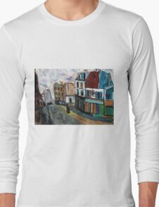 City Square(after Utrillo) Long Sleeve T-Shirt