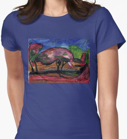 Trees In Bloom Womens Fitted T-Shirt