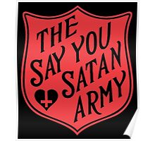 The Say You Love Satan Army 80s Horror Podcast Poster