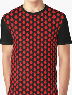 Droplets - Red Graphic T-Shirt