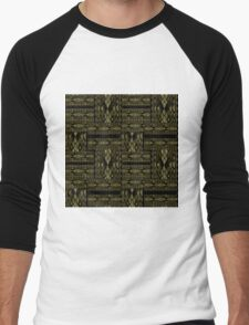 Patchwork seamless snake skin pattern texture Men's Baseball ¾ T-Shirt